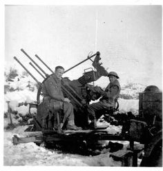 British troops with their newly acquired German gun that uses Italian shells sometime during 1944.