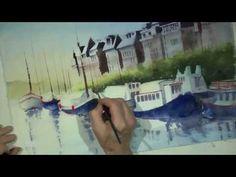 Watercolor Seascape demo 5 - YouTube