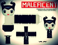 Maleficent Paper Toy - by Keket 1976 - via DeviantArt - == -  North American designer Keket 1976 created this cool Maleficent Funko Pop paper toy using Gus Santome's original (though slightly modified) template.