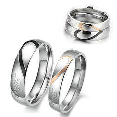 Couples Wedding Ring Sets | Wedding Ring Set Engagement Bands Matching Pair Couples Rings Titanium ...