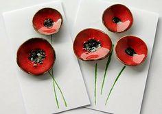 ceramics buttons poppy www.facebook.com/ceramikashe