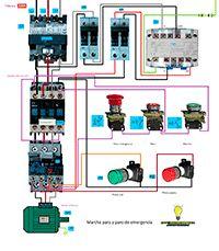 Esquemas eléctricos: Marcha paro y paro de emergencia motor trifasico