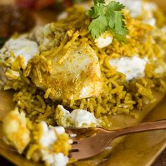 """Breyani,the traditional Cape Malay speciality, is the proud heritage dish of the old """"Breyani queens"""" of Cape Town. Economical and delicious. Best eaten fresh out of the oven. Fish Biryani, Masala Spice, Large Oven, South African Recipes, Baked Fish, Oven Racks, Fish And Seafood, Food And Drink, Fresh"""