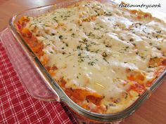 Baked Penne using Philadelphia Cream Cheese Cooking Creme Italian Cheese & Herb