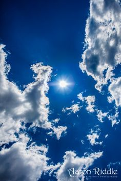 Photo I took of the blue Virginia sky just now - by Aaron Riddle... blue skies, smilin' at me... nothin' but blue skies do i see :)