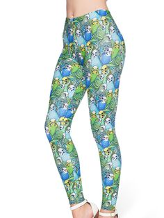Parrot Cute MF Leggings - 48HR (AU $75AUD) by Black Milk Clothing
