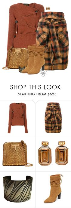 """""""Wicked Rust Cardigan"""" by pinkystyle ❤ liked on Polyvore featuring Vivienne Westwood Anglomania, Faith Connexion, Tom Ford and IRO"""
