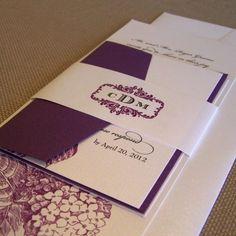 Hydranga Suite Wedding Invitation - a pretty way to incorporate the purple!