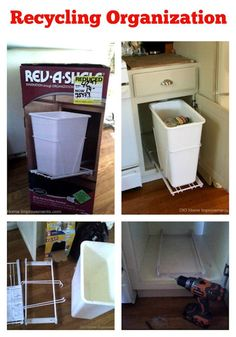 Organize Recycling Tips @DIOHomeImprove #organizing #tipsandtricks Organizing Tips, Organization Hacks, Kitchen Organization, 31 Days, Funky Junk, Kitchen Redo, Your Space, Getting Organized, Storage Ideas
