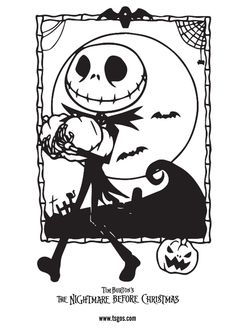 The Nightmare Before Christmas Coloring Page Collection Tree Coloring Page, Cartoon Coloring Pages, Disney Coloring Pages, Free Coloring, Adult Coloring Pages, Coloring Pages For Kids, Coloring Books, Coloring Sheets, Kids Coloring