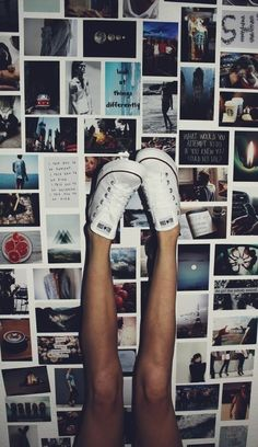 I want to do this on my bedroom wall with pictures from my blog