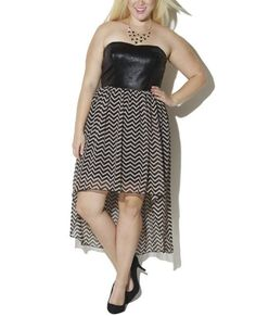 cool Wet Seal Women's Plus Size Chevron High-low Dress www.amazon.com/......