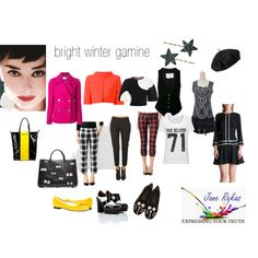 bright winter gamine by expressingyourtruth on Polyvore featuring Ted Baker, True Religion, Alexander McQueen, MICHAEL Michael Kors, Alberta Ferretti, Greg Lauren, Hudson Jeans, 3.1 Phillip Lim, MARC BY MARC JACOBS and Dirk Bikkembergs