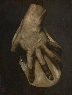 La main gauche de Géricault, 1823, huile sur papier marouflé sur toile, Paris, collection particulière.