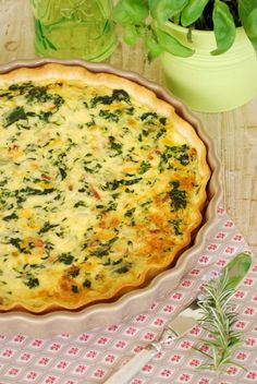 Quiche de Espinacas, Bacon y Queso de Cabra