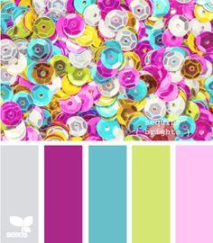 color combination...sequins brights