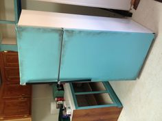Paint your old fridge lol love it !!! Now it all matches