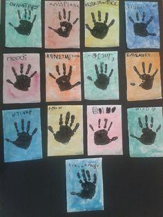 Όπως κάθε χρονιά, έτσι και φέτος ξεκινήσαμε με ομαδικά παιχνίδια αλλά και παιχνίδια γνωριμίας. Στην συνέχεια κάναμε με δακτυλομπογιές το τύπωμα του χεριού μας, αφού νωρίτερα κάθε παιδί έβαψε το χαρ...