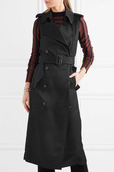 Victoria Beckham - Twill Trench Coat - Black - UK12