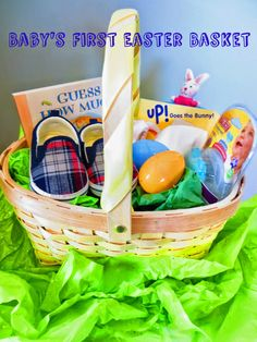 Baby easter basket one day pinterest baby easter basket babys first easter basket negle Image collections