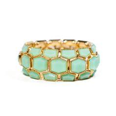 Cheap & So Chic Hex Bracelet Mint $28 @Lilac Bijoux