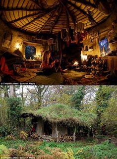 Meet Emma Orbach, a Real-Life Hobbit Who Lives Off the Grid - TechEBlog Earthship Home, Natural Homes, Natural Building, Green Building, Unusual Homes, Earth Homes, Off The Grid, Little Houses, My Dream Home