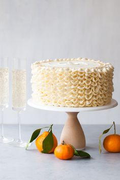 Champagne Mimosa Cak