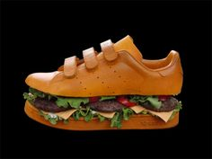 Artist Max Berliti's adidas Stan Smith sneaker burger.