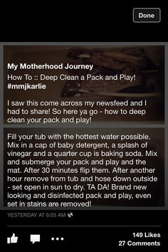 cleaning pack n play