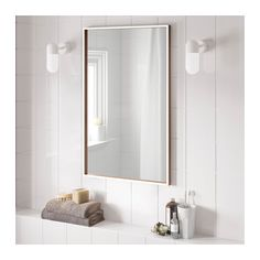 Cheap but simple and cool mirror to potentially balance splurges SKOGSVÅG Mirror - IKEA