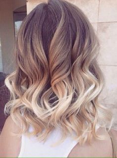 Light brown to blonde ombré.. So pretty