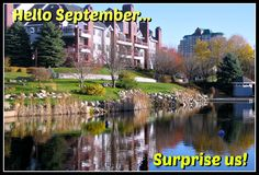 September in the Twin Cities at Centennial Lake Edina MN