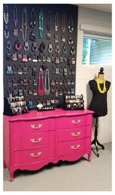 Jewelry Wall, Jewelry Organizer Wall, Jewellery Storage, Jewellery Display, Jewelry Shop, Diy Jewelry Holder, Selling Jewelry, Paparazzi Display, Paparazzi Jewelry Displays