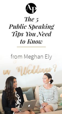 You booked your first speaking gig - now what?!?! Wedding industry pro Meghan Ely is sharing her top public speaking tips to make sure you nail it!