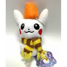 Pokemon Center 2014 Christmas Pikachu Snowman Plush Toy