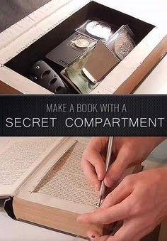 Awesome  Crafts for Men and Manly DIY Project Ideas Guys Love - Fun Gifts, Manly Decor, Games and Gear. Tutorials for Creative Projects to Make This Weekend | Make a Book with a Secret Compartment