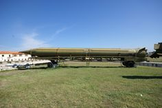 https://flic.kr/p/6JEmRg   Cuban Missile Crisis, Havana Weapons Exposition: R-12 MRBM.   Full View of Missile and Transporter.