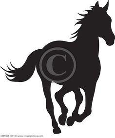 horse silhouette vector [3241968]