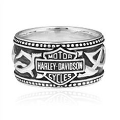 This Harley Men's Tribal B&S Band Ring is extra special because it marks your spot in the greatest tribe out there - the Harley-Davidson tribe! Oh, we do exist, and with this ring -