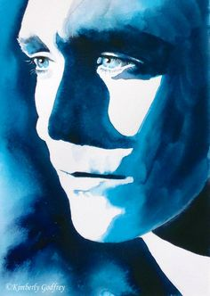Tom Hiddleston Coriolanus Original Watercolour by KimberlyGodfrey