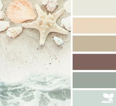 I like the idea of creating a gentle colour palette for a painting such as this one. Keeping the intensity of colour to a minimum and perhaps letting the slight variations in tones be the focal point. | Shore tones - design seeds