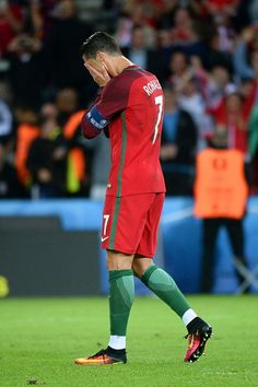 #EURO2016 Cristiano Ronaldo of Portugal looks dejected during the UEFA EURO 2016 Group F match between Portugal and Austria at Parc des Princes on June 18 2016...