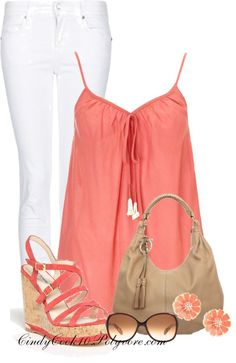 """Coral"" by cindycook10 on Polyvore"