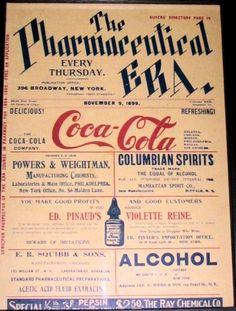 1899 Coca-Cola ad at the weekly newspaper focused on pharmaceutics