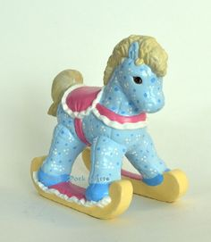 Cute Blue Soft-Sculpture Look Ceramic Rocking Horse by RiverRockArts  nice work! #HAF #HAFteam