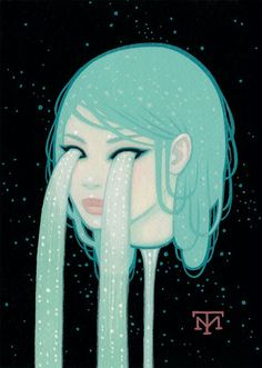 Tara McPherson piece for Lacrima Aquarium