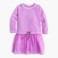 J.Crew - Girls' sweatshirt tulle dress