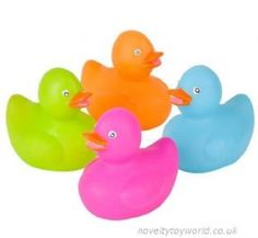 Set Of 3 Stocking Fillers Mini Pirate Rubber Ducks Party Bags
