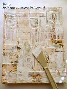 Paper collage on canvas tut<br> Collage Kunst, Canvas Collage, Paper Collage Art, Collage Art Mixed Media, Mixed Media Painting, Mixed Media Canvas, Paper Art, Art Collages, Painting Collage