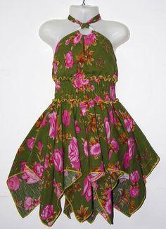 LL182-14-25 Girls 2-8 Cotton Dress
